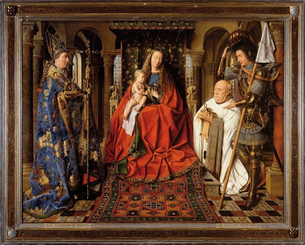 Jan van Eyck: Madonna with Canon Joris van der Paele